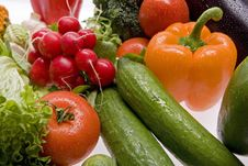 Free Fresh, Wet Vegetables. Royalty Free Stock Photos - 8271368