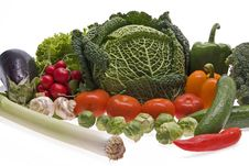 Free Fresh, Wet Vegetables. Stock Photo - 8271500
