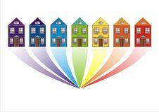 Free Rainbow-city Stock Images - 8271704