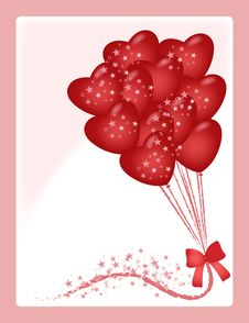 Free Card With Heart Balloons Stock Image - 8271711