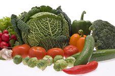 Free Fresh, Wet Vegetables. Stock Photo - 8271780