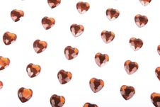 Free Valetine Hearts Background Isolatefd On White Stock Photography - 8271942