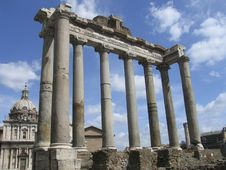 Free Rome: The Ruins Of The Ancient Roman Forum Stock Photos - 8271973