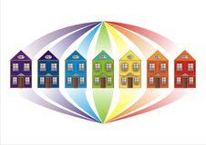 Free Rainbow-city 3 Royalty Free Stock Photo - 8272005