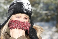 Free Winter Lady Royalty Free Stock Images - 8272379
