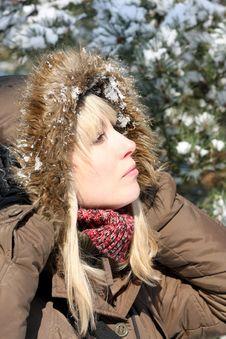 Free Winter Lady Royalty Free Stock Photos - 8272398