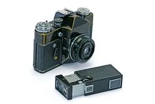Free Two Old Photo Cameras Stock Images - 8272414