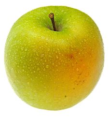 Free Wet Green Apple. Stock Photography - 8272422