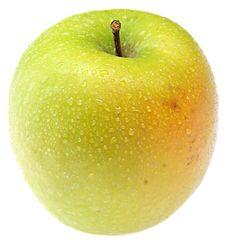 Free Wet Green Apple. Royalty Free Stock Photos - 8272468