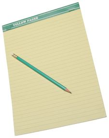 Free Pencil On A Yellow Notebook. Royalty Free Stock Photography - 8272697