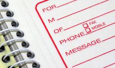 Phone Message Pad Royalty Free Stock Photo