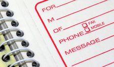 Free Phone Message Pad Royalty Free Stock Photo - 8272735