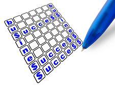 Pen&crossword Stock Photography