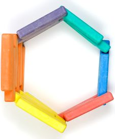 Free Hexagon From Children Colored Chalk Stock Photos - 8273003
