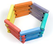 Free Hexagon From Children Colored Chalk Stock Image - 8273021