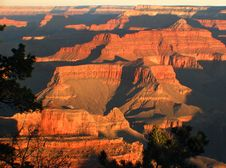 A Glorious Sunrise At The Grand Canyon. Royalty Free Stock Image
