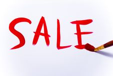 Word Sale Painting With Brush Stock Image