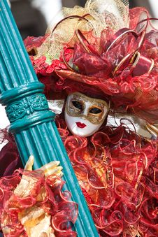 Free Venice Carnival Costume Royalty Free Stock Photography - 8273357