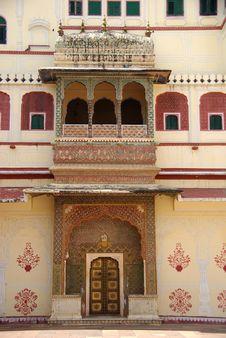 Door In Jaipur, Rajasthan Royalty Free Stock Photo