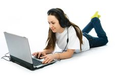 Free Young Woman With A Laptop Stock Image - 8273571