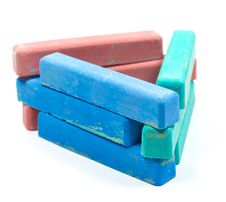 Free Triangle From Children Colored Chalk Stock Photography - 8273582