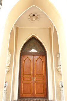Gothic Style Door. Stock Image