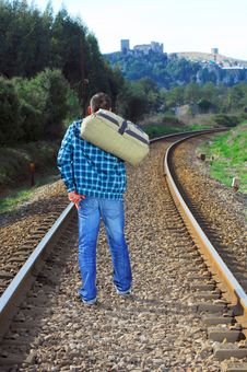 Free Men Waiting For The Train Royalty Free Stock Image - 8273886
