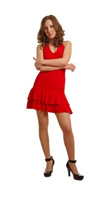 Free Lady In Red Stock Images - 8274014