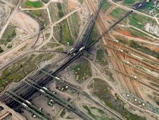 Free Coal Transfer Lines, Aerial Stock Photo - 8274200