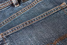 Free Blue Denim Jeans Pocket Stock Images - 8275274