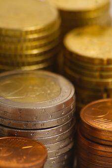 Free Piles Of Euro Coins Royalty Free Stock Photos - 8275408