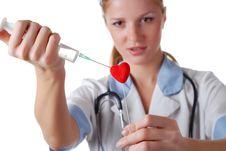 Free Nurse With Syringe Stock Photography - 8275522