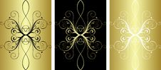 Free 3 Gold Pattern Stock Photography - 8275892