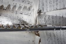 Free Flute And Old Sheet Music Royalty Free Stock Photo - 8275905