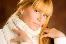 Portrait Of Lovely Blond Royalty Free Stock Images