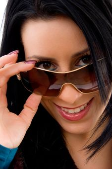 Free Close View Of Smiling Female Looking At Camera Royalty Free Stock Image - 8277036