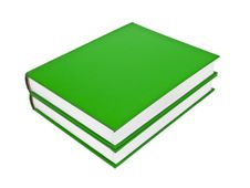 Green Books Stock Photo
