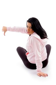 Free Back Pose Of Model With Thumbs Down Royalty Free Stock Photos - 8277268