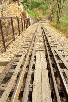 Free Death Railway. Stock Images - 8277454