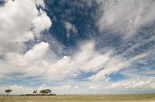 Free Cloudscape Over Grasslands Stock Image - 8277501