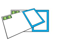 Some Blank Business Cards Stock Photography