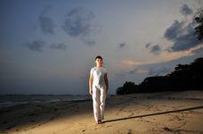 Free Yoga By The Beach Stock Photos - 8278363