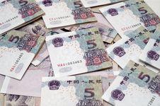 Chinese Bills Stock Image