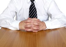 Free Business Man Sitting On The Table Stock Images - 8278684