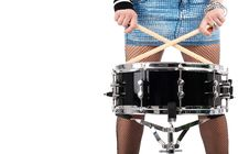 Free Rock-n-roll With The Beautiful Blonde Royalty Free Stock Images - 8278699