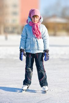 Free Girl On Skates Royalty Free Stock Images - 8278799