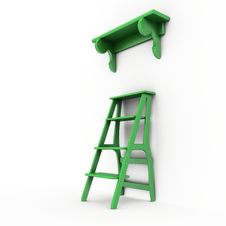 Free Stair And Bookshelf Royalty Free Stock Photos - 8279098