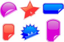 Free Vector Stickers Royalty Free Stock Images - 8279289
