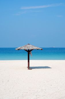 Free Beach With Single Hut Stock Images - 8279654