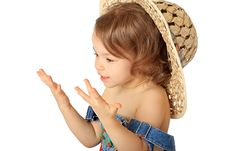 Free A Girl Is In A Hat. Royalty Free Stock Photography - 8279737
